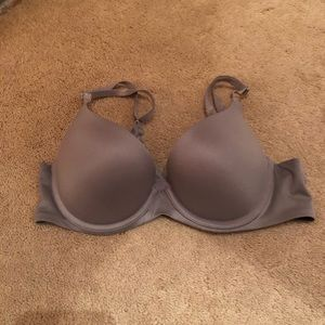 Aerie Gray Light Coverage Bra